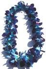 SINGLE DYED BLUE DENDROBIUM ORCHID LEI GRADUATION LEI