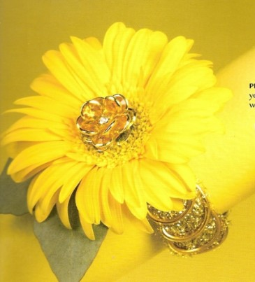 Single Gerbera Wristlet Corsage (more colors available) (order with or without bling)