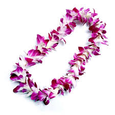 Single Purple Orchid Lei