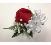 Single Red Rose Corsage