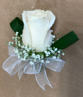 Single Rose Boutonniere Prom