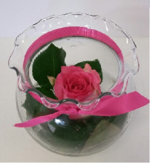 Single Rose Bowl Arrangement