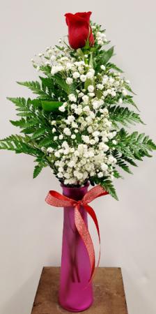 Single Rose  Bud Vase in Springfield, MO | FLOWERAMA #226
