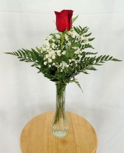 Single Rose Bud Vase Rose Arrangement