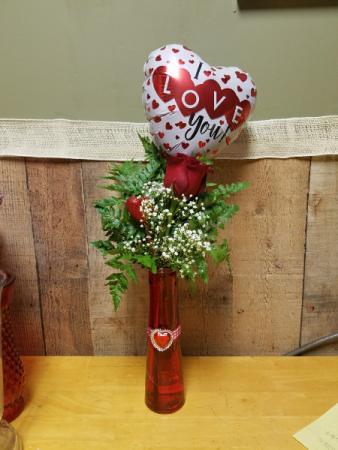 Single Rose Bud Vase Vase In Wilkes Barre Pa Kelly Anns Floral
