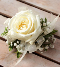 Single Rose Wrist Corsage Available in other colors please call.