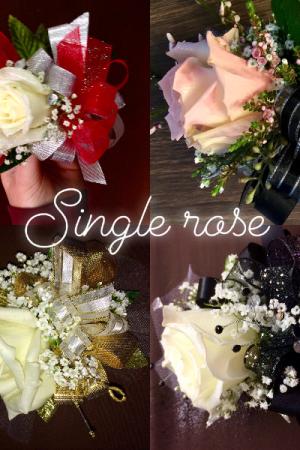 Single Rose  Corsage