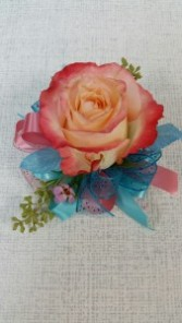 Single Rose Corsage available in a variety of colors