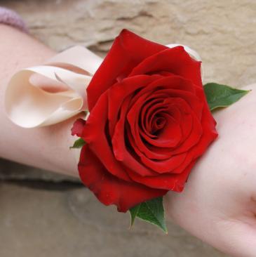 Satin Tie Rose Wrist Corsage