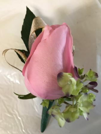 Single Rose on Hydro Prom Flowers