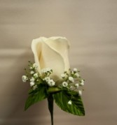 Single Standard Rose  Boutonniere