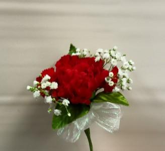 Single standard carnation corsage