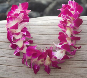Single Stranded Bombay Orchid Lei Floral