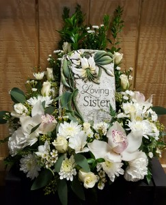 Sister Plaque with Flowers