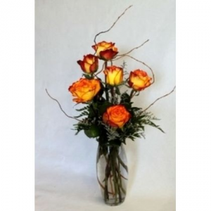 Six Fancy Roses (ON SALE THIS WEEK!!!Reg.44.95) fresh arrangnment in Cincinnati, OH | Hyde Park Floral & Garden