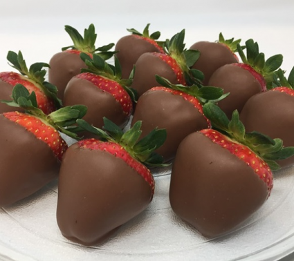 Milk Chocolate Covered Strawberries Available for Valentine's