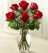 Six Rose Vase