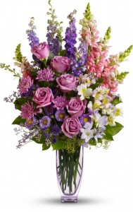 SIXTY 4 TALL PURPLE ARRANGEMENT