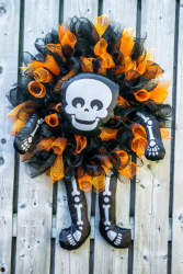 Skeleton Wreath Seasonal Wreath
