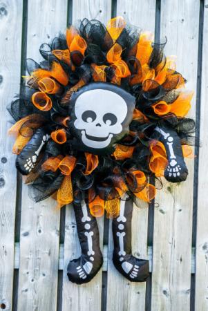 Skeleton Wreath Seasonal Wreath