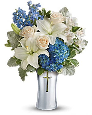 Skies Of Remembrance Bouquet in Jasper, TX | BOBBIE'S BOKAY FLORIST