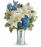 Vase sold out *Skies Of Remembrance Bouquet PM T278-1C By Teleflora