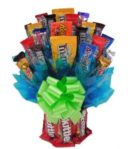 Skittles Candy Bouquet Gift Basket in Los Angeles, CA | MY BELLA FLOWER