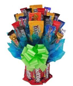 Skittles Candy Bouquet Gift Basket in Burbank, CA | MY BELLA FLOWER