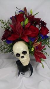 Spooky Skull Creation Halloween, Home in Largo, FL | Rose Garden Florist