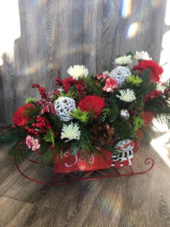 Sleigh bells jingle  Christmas arrangement