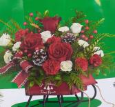 Sleigh Bells Table Centerpiece