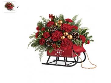 Sleigh Bouquet  Sleigh flowers