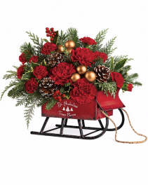 Sleigh Bouquets Christmas Keepsake