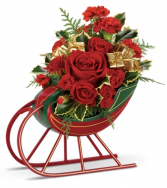 Sleigh Ride Bouquet One-Sided Floral Arrangement