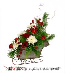 Sleigh Ride Bud & Bloom Signature Arrangement