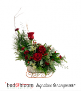 Sleigh Ride Bud & Bloom Signature Arrangement