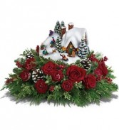 Thomas Kinkade  Sleigh Ride Centerpiece with lights