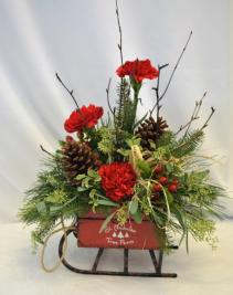 SLEIGH RIDE  Flower Arrangement