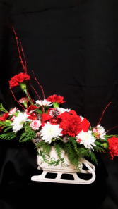 Sleigh Ride fresh cut arrangement