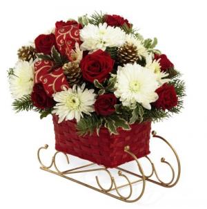 Sleigh Ride Holiday Bouquet in Whitesboro, NY   KOWALSKI FLOWERS INC.