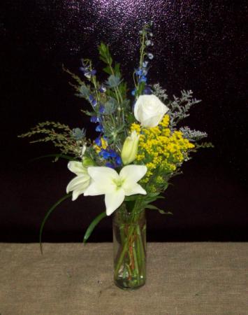 Slender Elegance Tall Cylinder Vase With Premium Flowers In Cleveland Ga Artistic Florist