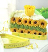 Slice of Life Cake Flower Birthday Flowers Online