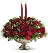 Silver Festive Holiday Christmas Arrangement