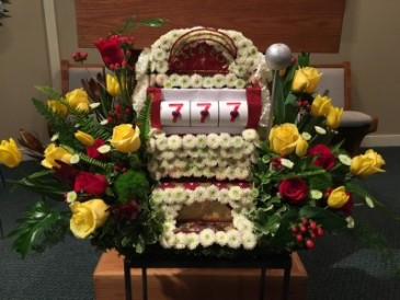 Slot Machine/ Themed Funeral Flowers