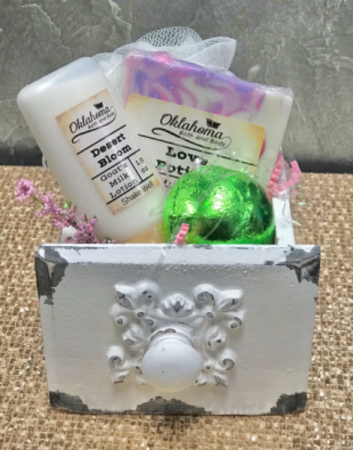 Small Antique White  Pampered Box