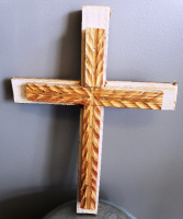 Small Artisan Cross  Hand Carved cross