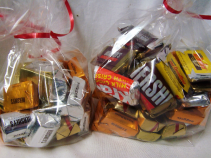 SMALL BAGS OF MINIATURE CHOCOLATES (6.95) LARGE BAG OF MINIATURE CHOCOLATES (9.95) can order here of if adding to an arrangement it can be done at check out.