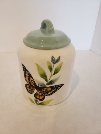 Small Butterfly Ceramic Jar Giftware
