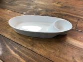 Small Ceramic Chip/Dip Tray