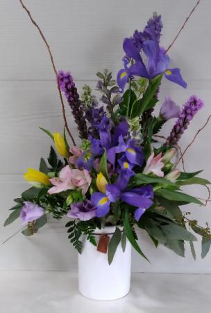 Small Ceramic Crock Floral Design